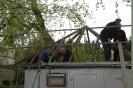 Dacherneuerung Vereinshütte April 2011